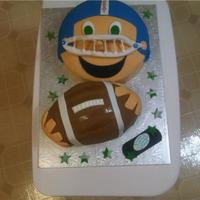 Football Birthday Cake! I was so stuck when I had an order for a football birthday cake, luckily I had alot of inspiration from cake central! so, thanks! :)The...