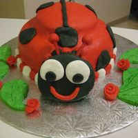 Lady Bug I made this cake for my lady-bug lovin momma! : )