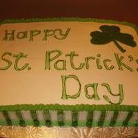 St. Patrick's 2010 With Rainbow cake inside! I wish I had a picture of the inside....