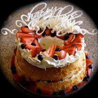 "Angel Food Cake   i got this idea from the cover on a magazine at safeway =) ""happy fathers day"" is handwritten in white chocolate"