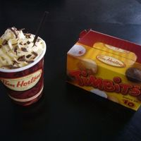 Tim Hortons Cafe Mocha  Thanks to mkolmar for the great idea of these cafe mochas!I made 30 of them -10 chocolate fudge w/ cookies n cream whipped filling &...