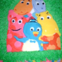 Backyardigans This was for my daughter's 2nd birthday. She loves the Backyardigans so this is what I came up with. It is a strawberry cake with...