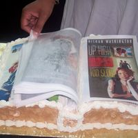 Authors Book Covers There were 25 authors at a fund raiser I did. All of the authors book covers were used on the cake. It had 23 turnable pages made out of...