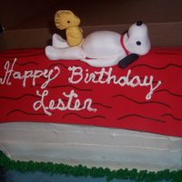 Snoopy This cake was done for my husband's birthday. He has always loved Snoopy. I took it to his job and all of the guys loved it and he...