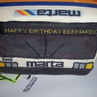 Marta Bus Birthday Cake This cake was done for a MARTA (Metro Atlanta Rapid Transit Authority) bus driver. His girlfriend got it for him and said that he had never...