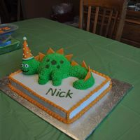 Dinosour Cake Dinosour cake I made for my son's 3rd birthday.