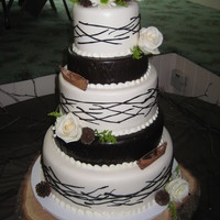 Rustic Adirondack Wedding Cake Adirondack style wedding cake I created for my sister's wedding.