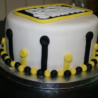Cake For Work! Did this cake for my workmates. Banana cake covered in buttercream then fondant.