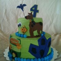 Scooby Doo Cake   Scooby Doo Cake for a little boy's 4th birthday.