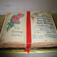 Anniversary Bible Cake This was a copy of the actual document signed at the couple's wedding 50 years ago. Thank you for the wonderful ideas in these...