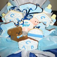 New Baby Boy Bouquet