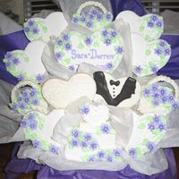 Purple Wedding Cookie Bouquet