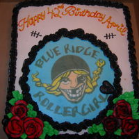 Roller Girls Rock Birthday cake for a friend's daughter