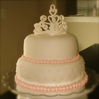 First Tiara Cake This is my first time making this, it didn't broke!!!! lol