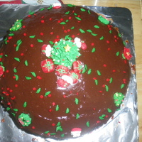 Christmas Cakes For Atty Garcia choco moist cake with fudge frosting