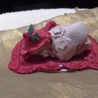 Christmas Cake Topper this christmas baby was made to go on a cake for my nieces teacher who is leaving school to have a baby soon