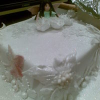 Fairy Christmas Cake this was done for a friend of mine . I love making fairies and it made a nice change from holly and berries as decorations