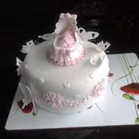 Second Stage Of My Basinette Christening Cake this is the second stage of the christening cake i am making for my neice layla i have also made the next tier which is in' other...