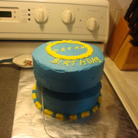 Yo Yo Cake   used 9 inch round pan, and put a 4 inch round board inbetween