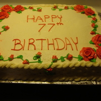 Birthday Cake   11x15 with roses