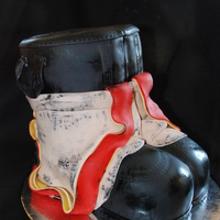 Fireman Boots And Bunkers   inspired by another CCer - thanks for looking and sharing your ideas!