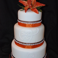 Brown Orange Wedding