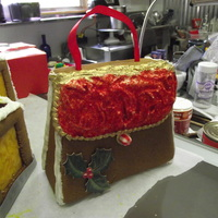 Gingerbread Holly Purse I found a great paper box purse at hobby lobby and traced out a purse pattern. Then baked and assembled the final product. Hope you enjoy...