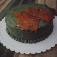 Maple Leaf Chocolate Cake For Thanksgiving