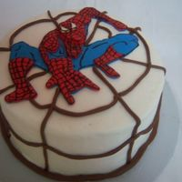 Spiderman buttercream with MMF spiderman