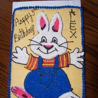Max Birthday Cake   Sheet cake - decorated free hand with buttercream - Max of the carton Max and Ruby!
