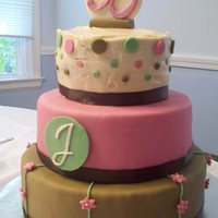 30Th Birthday Cake My 30th Birthday cake!! The bottom two tiers are dummies covered in fondant. The top tier is strawberry cake with cream cheese frosting. I...