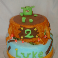 Shrek In His Mud Pit This was a last minute cake. Everything was done in one day. WHEW! My first attempt at shrek. :) I think I did an OK job. Inspiration came...