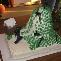 Snowboarding Mountain my brother is a snowboarder so i made this cake for his 16th birthday.