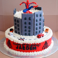 Spiderman First Birthday Cake   Made this for a friend.