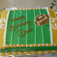 Football Field   I made this for my father-in-law's birthday which happened to call on Superbowl Sunday. http://jamielz.blogspot.com