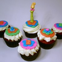 Happy 5Th Birthday! Happy Birthday cupcakes in Red Velvet with vanilla bean cream cheese buttercream