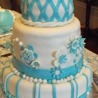 My First Wedding Cake. My first wedding cake. I know there are many mistakes & this isnt the front of the cake. Oh well, my Hubby took this picture. Thanks to...