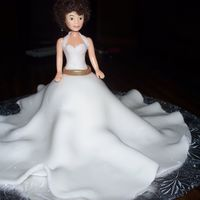 Wonder Character- Bride dress made from fondant....with a cupcake mold underneath for base