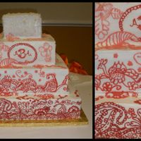 Mehendi Design Wedding Cake My hand was hurting after this one!