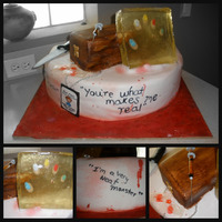 Dexter Morgan On Showtime Cake! I made this cake for a guy who wanted to ask his girlfriend to marry him, their favortive show is Dexter on Showtime. It's and my...