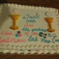 Dual First Communion Cake