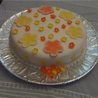 Just For Fun. Same WASC recipe, Had to frost. Fondant Icing and flowers. Brushed with buttercream.