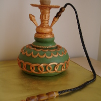 Hookah Cake! A friend of my husband asked me to make a Hookah Cake for his parent's birthday (they share the same birthday). Vanilla cake with...