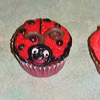 Ladybug Cupcakes I had a customer ask me if I could do lady bug stuff, so I whipped up a few variations