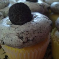 Vanilla Cupcakes With Oreo Buttercream Made with Indydebi's Crisco-Based Buttercream Icing as the base.