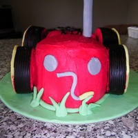 Little Red Tractor  Did this one for my friends little boy, he loves the Little Red Tractor. My first attempt at a carved 3D cake. Such a pain in the behind to...