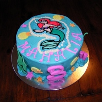 Ariel  3rd Birthday cake for a friends daughter. First attempt at a FBCT, turned out not to bad. Took inspiration from lots of cakes on CC....