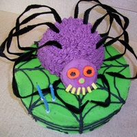 Spider  My son's 3rd Birthday cake from woman's weekly kids cake book. I lost 10 years over this cake! Way before my CC days. He loved it...