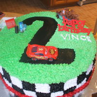 Disney Cars Cake All buttercream icing.
