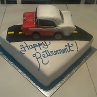 '56 Chevy Retirement Cake  This cake was made for a customer who's dad was retiring. He ownes a '56 Chevy so that's what she wanted on his cake. This...